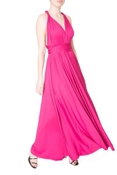 pink multiway maxi dress