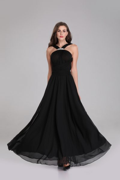 black chiffon multiway maxi dress