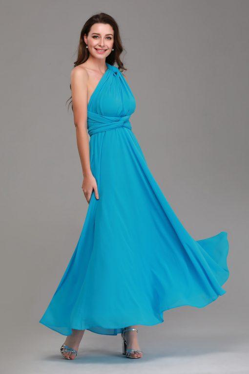 aquamarine chiffon multiway maxi dresses