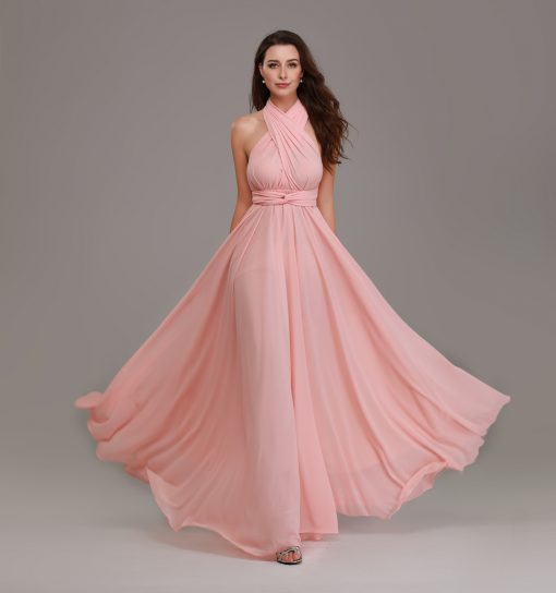 pale peach multiway maxi dresses