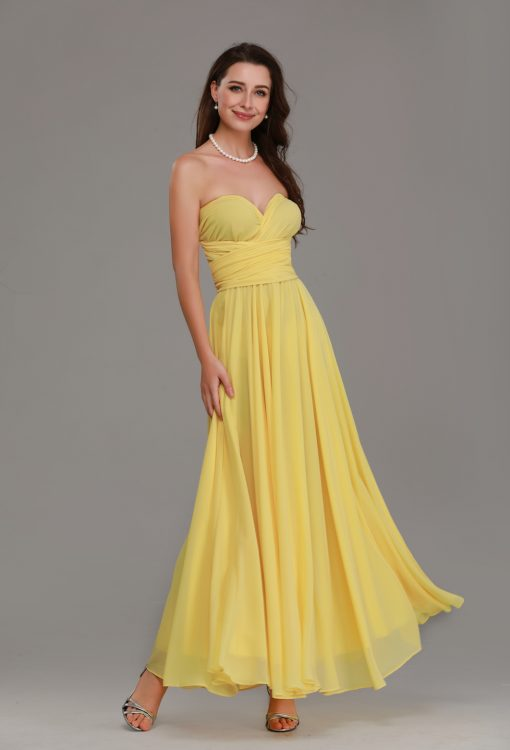 pale yellow bridesmaid dresses