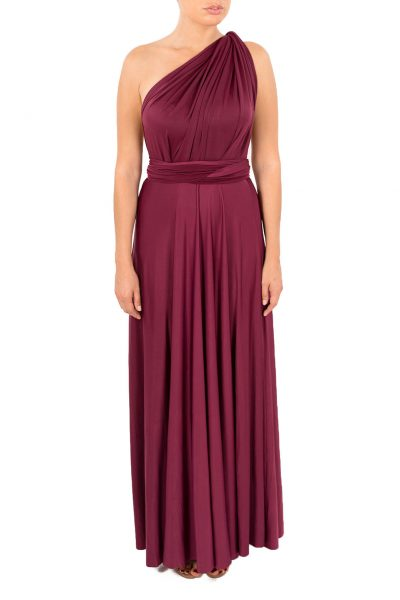 dark red multiway dress