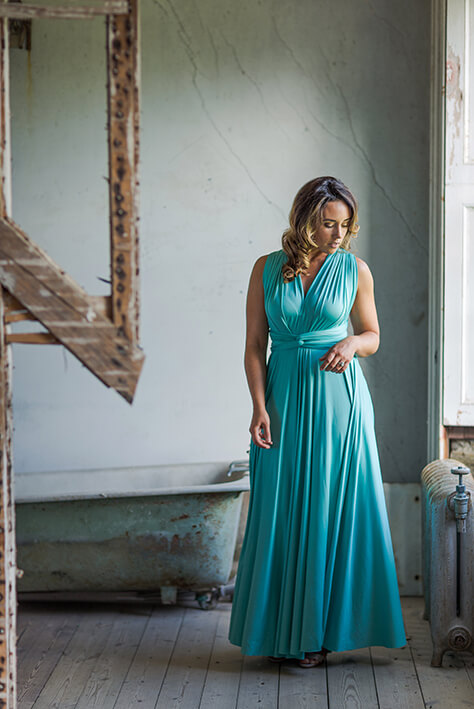 maxi bridesmaid dress