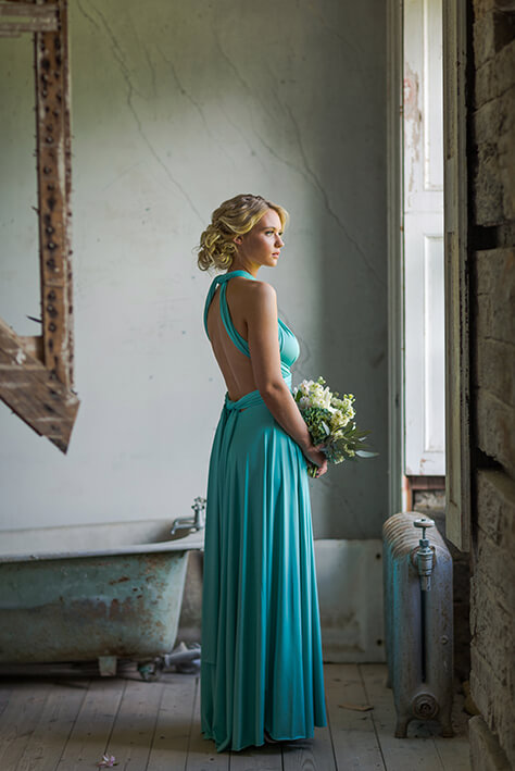 backless bridesmaid dress