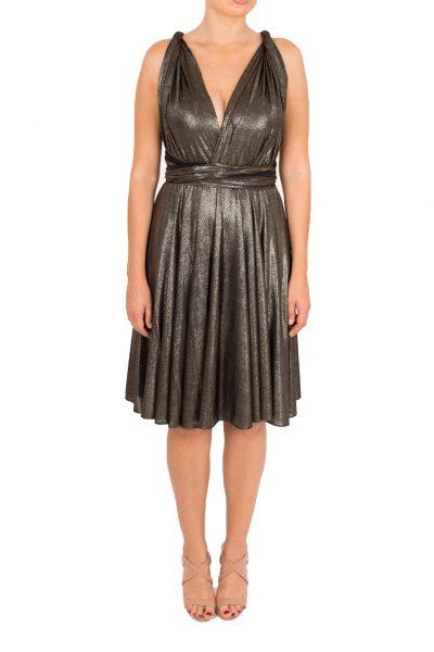 gold shimmer short dress lavalia