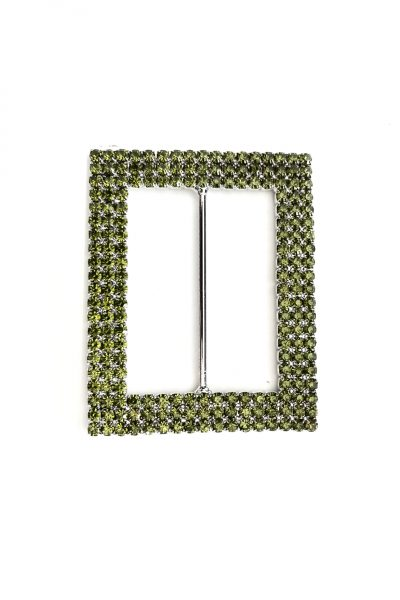 Green rectangle diamante