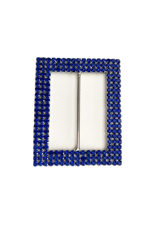 Rectangle blue buckle
