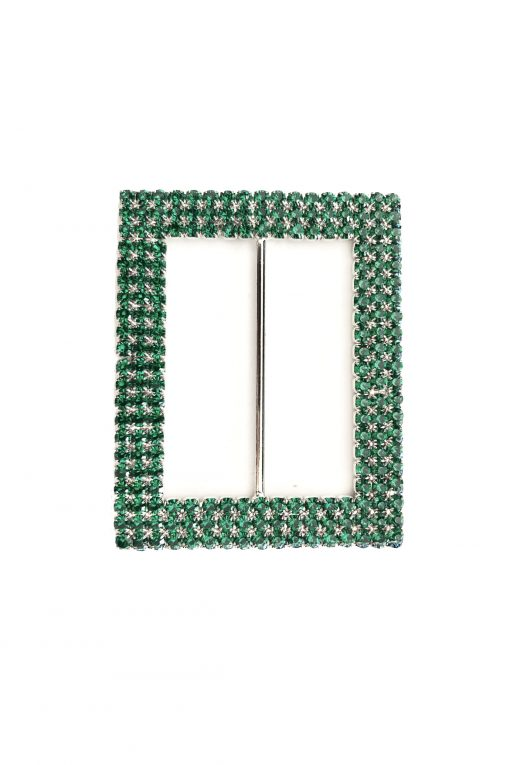 Rectangle diamante green
