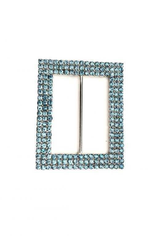 rectangle baby blue buckle