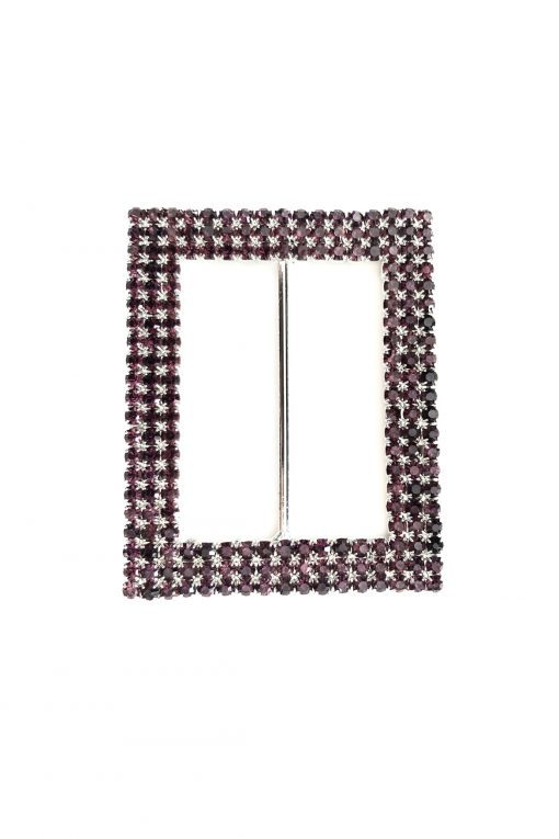 rectangle buckle pink - purple