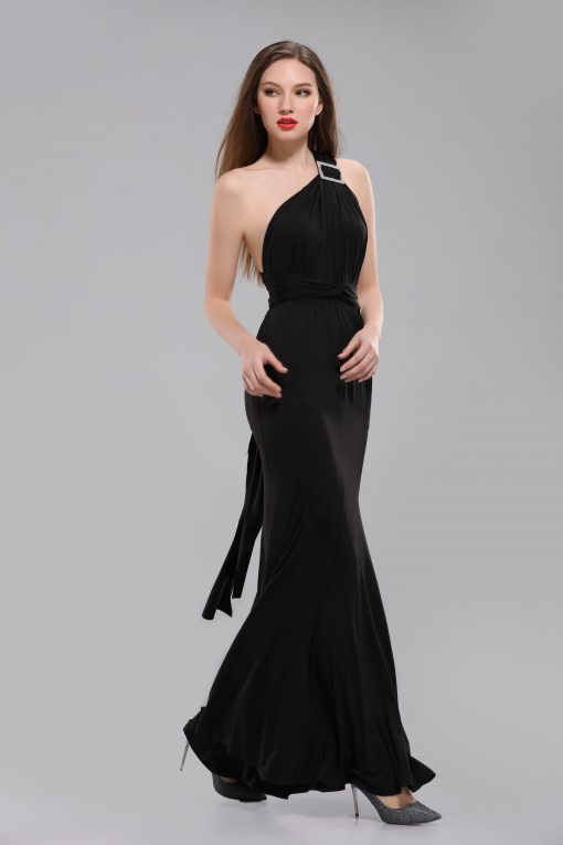 alexa multiway black long dress side