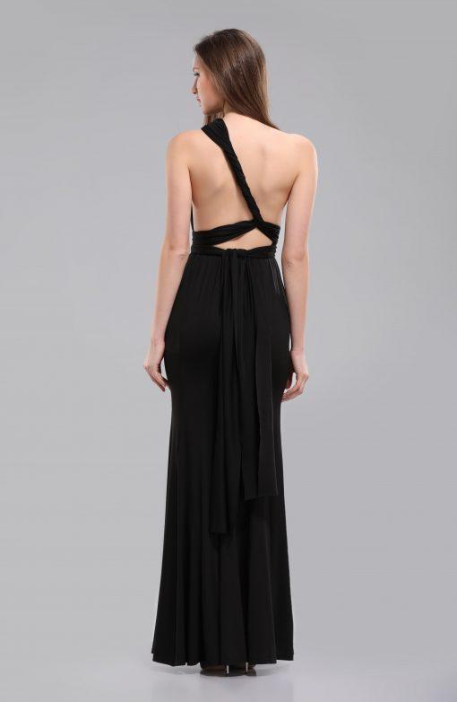 alexa multiway black long dress back