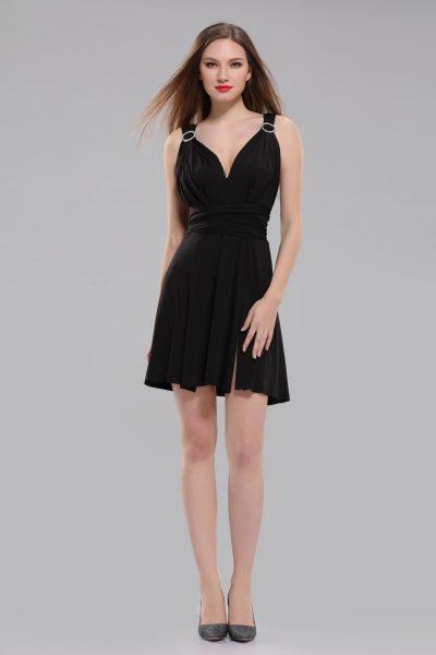 Elizabeth Black Mini Multiway Dress