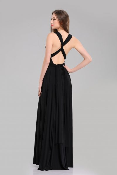 Giselle Floor Length Black Multiway dress